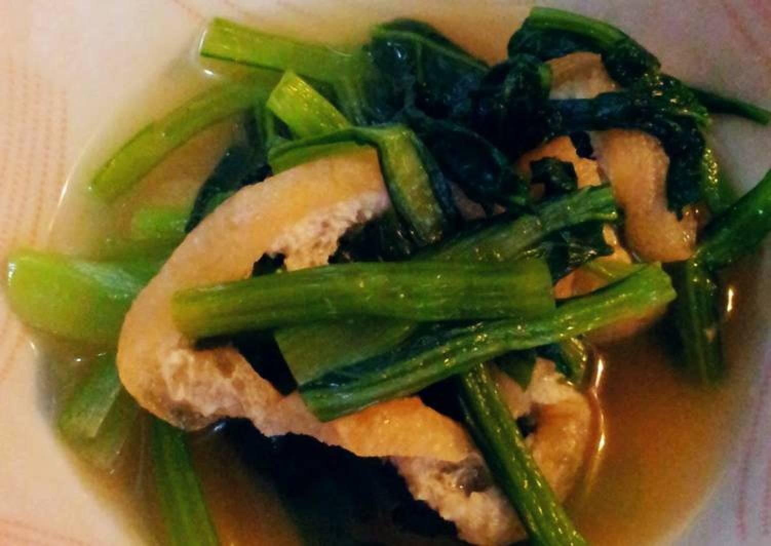 Versatile Boiled Komatsuna and Aburaage