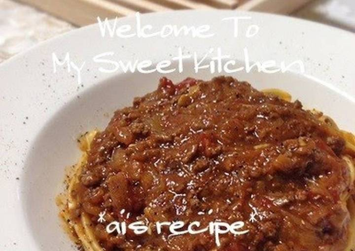 Tomato Curry Style Bolognese Sauce