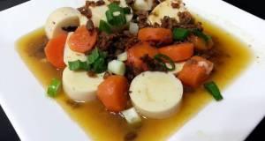 Tofu And Carrot Top Mushroom
