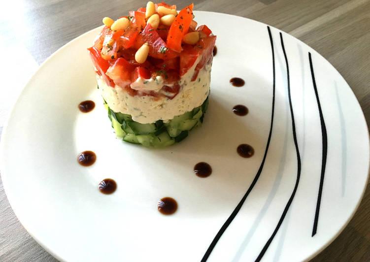 Duo de Concombre et Tomate au tartare