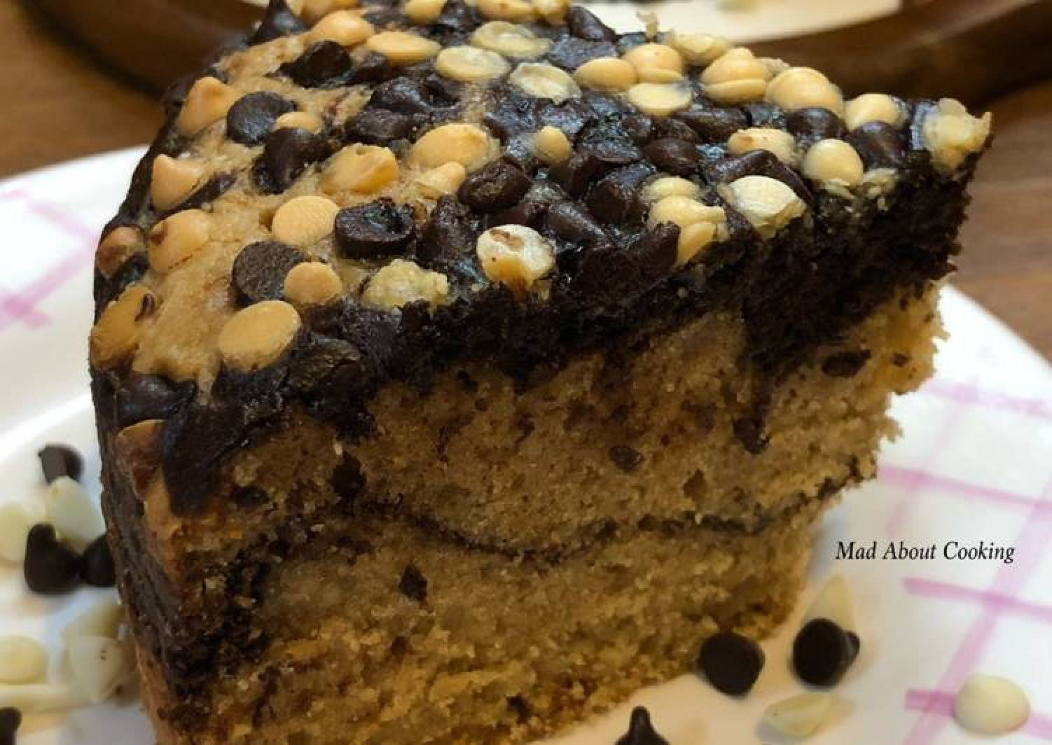 Whole Wheat Choco Marble Cake – No Egg, No Butter, No All Purpose Flour
