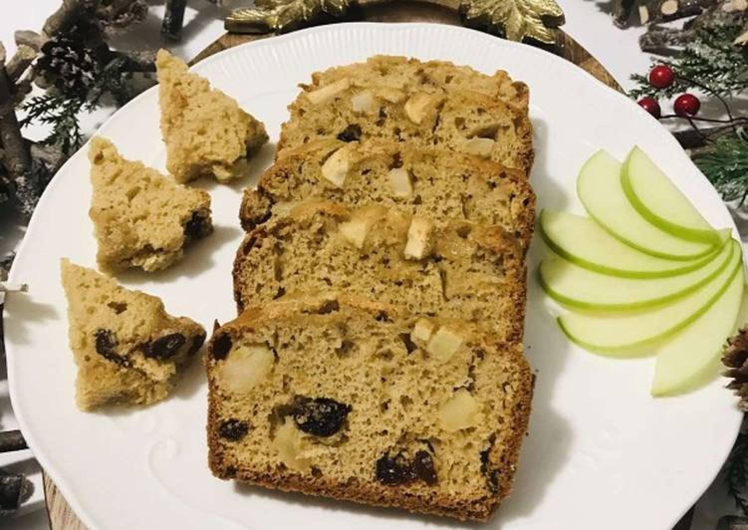 Apple cinnamon & cranberry Loaf cake #onerecipeonetree🌲