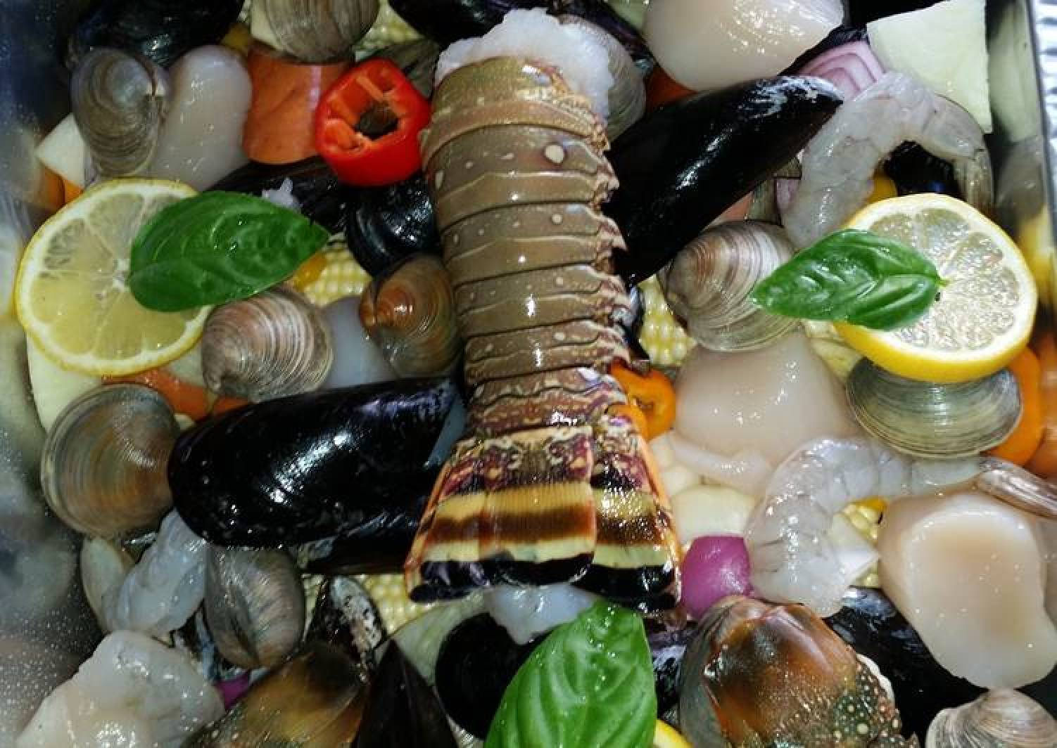 The Lake Como Seafood Bake