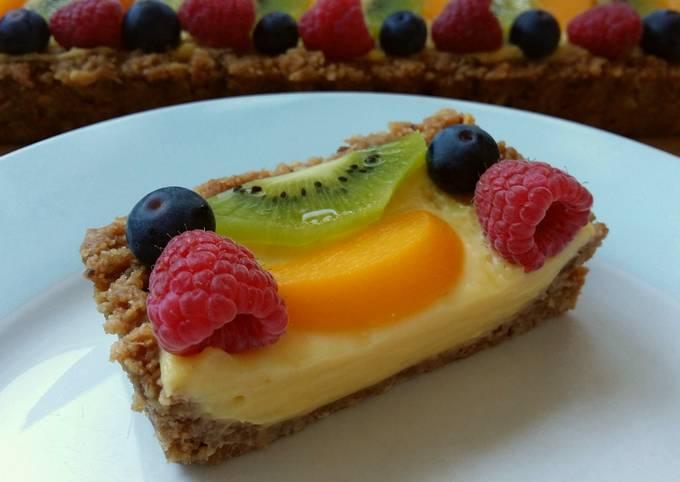 Vickys No Bake Fruit Tart, GF DF EF SF NF