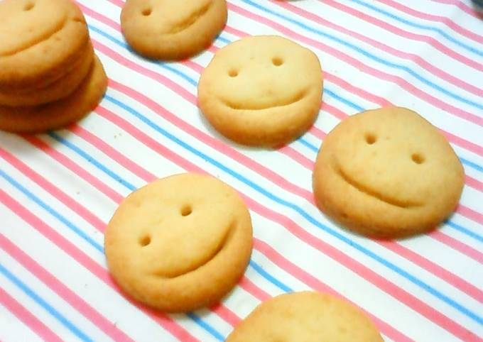 Smiley Faces Cookies with Healthy Brown Rice Flour