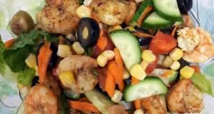 Pams Salad with shrimp