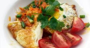 Fried Egg With Sweet And Spicy Carrot