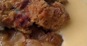 Vickys Pear and Apple Butterscotch Crumble GF DF EF SF NF