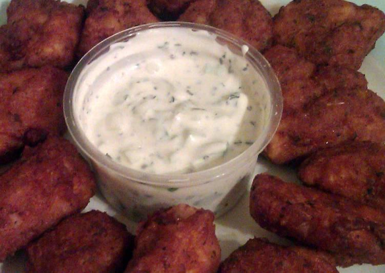 Vickys Chicken Pakoras with a cool Raita Dip GF DF EF SF NF