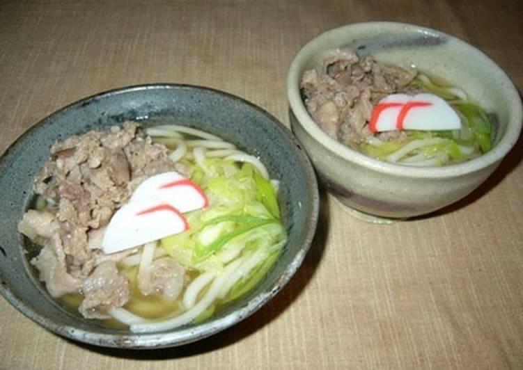 Pork Udon Noodles