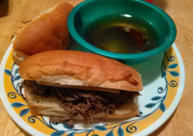 Steps to Make Any night of the week Slow Cooker French Dip