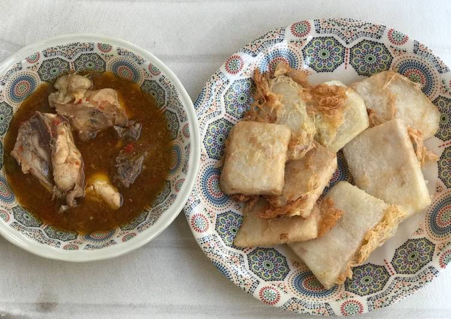Golden Yam with chicken pepper soup