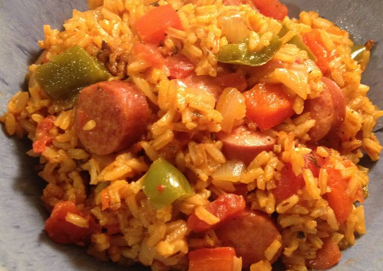 Sausage & Peppers Rice One Pot Meal