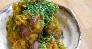 Vegan Salad with Kabocha Squash and Beans