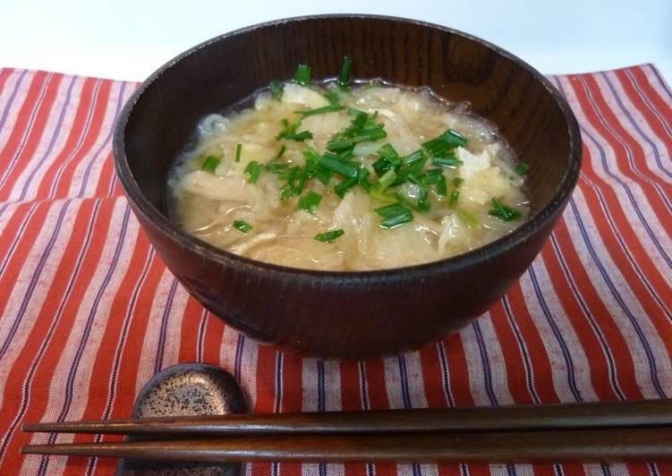 Recipe of Speedy No Pre-soaking Required: Kiriboshi Daikon and Kurumabu Miso Soup