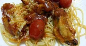 Chicken Bolognese And Spaghetti