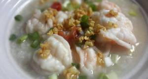 Thai Rice soup with Prawns / Khao Tom Koong