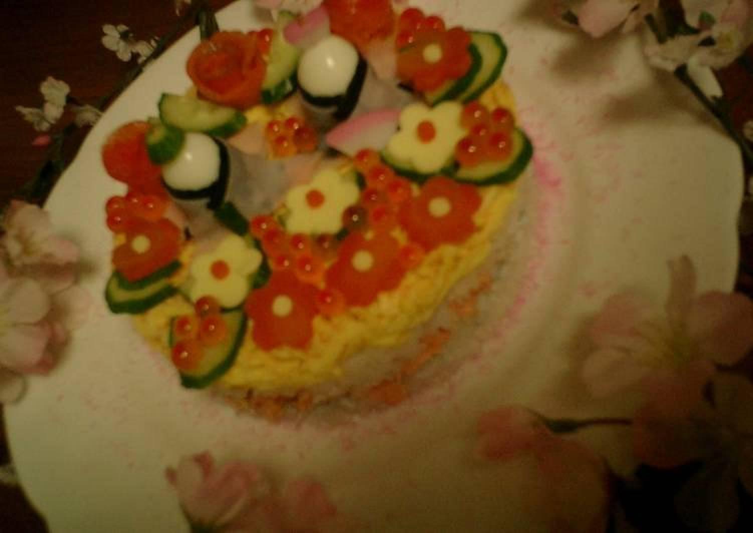 Hina Matsuri Sushi Cake
