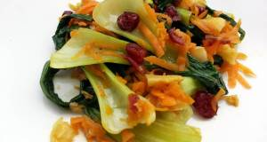 Bak Choy With Dried Cranberries Salad