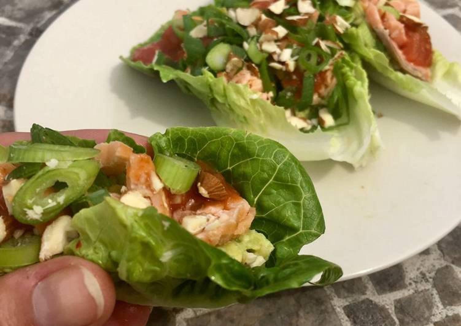 Salmon & Avocado Lettuce Cups