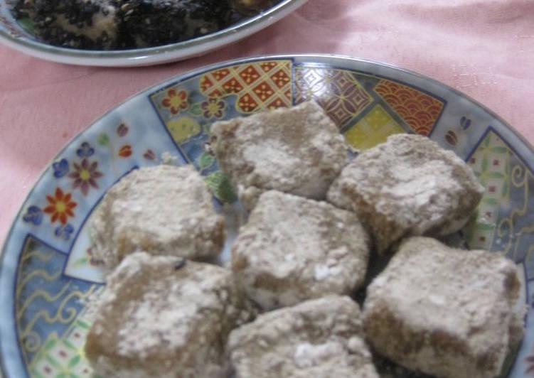 Okara Mochi with Roasted Barley or Kinako Flour