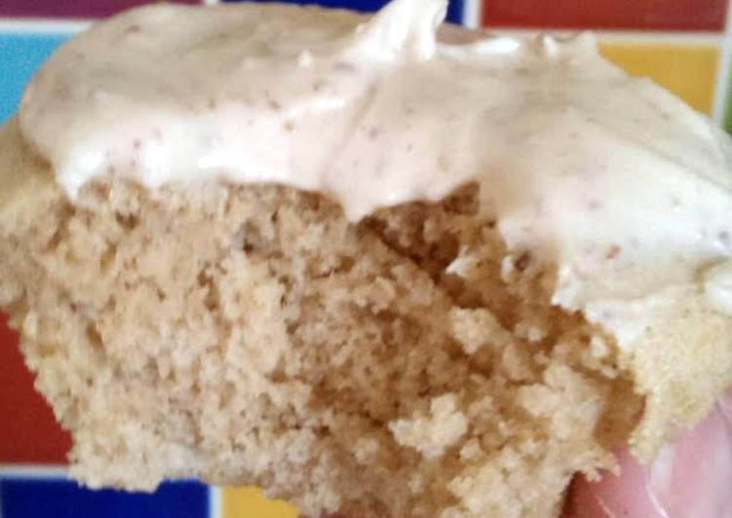 Vickys Vanilla Cupcakes with Coffee/Mocha Icing, GF DF EF SF NF