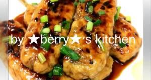 Chicken Breast Meatballs with Teriyaki Sauce