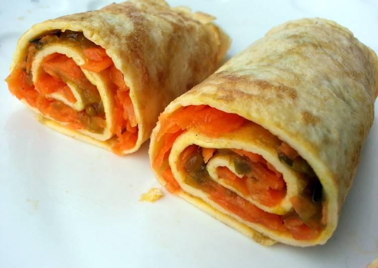 Carrot Omelette Roll Diet Breakfast