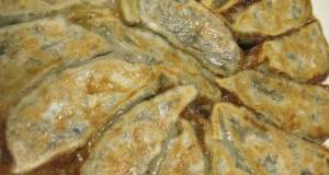 Chewy Texture Easy Vegetable Gyoza Dumplings Made with Lotus Root