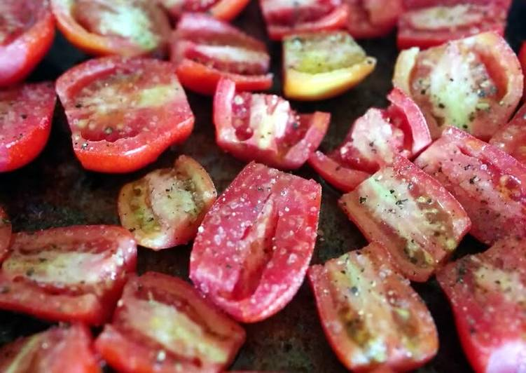 Easy oven roasted roma tomatoes