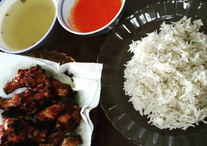 Chicken Rice, Soup and Chilli