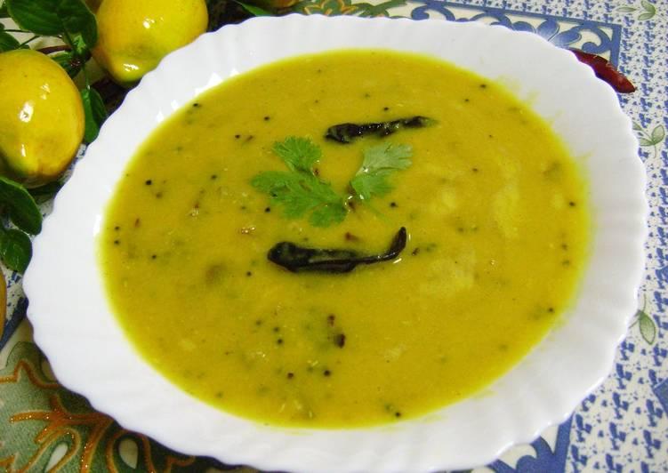 Aam Dal (Raw Mango Lentil Curry - Bengali Style)