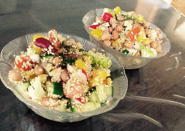 Healthy And Colorful Vegan Summer Salad