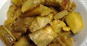 Roasted butter eggplant bites