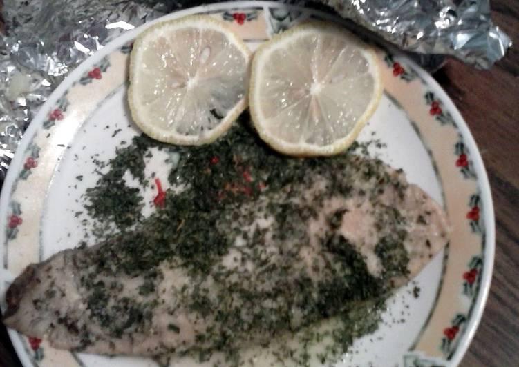 Gluten free Foil fish