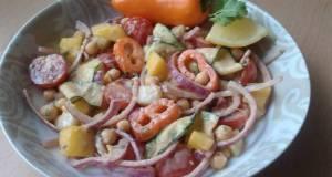 Vickys Chickpea  Mango Salad w Creamy Dressing GF DF EF SF NF