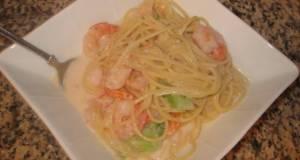 Salmon  Shrimp Creamy Pasta