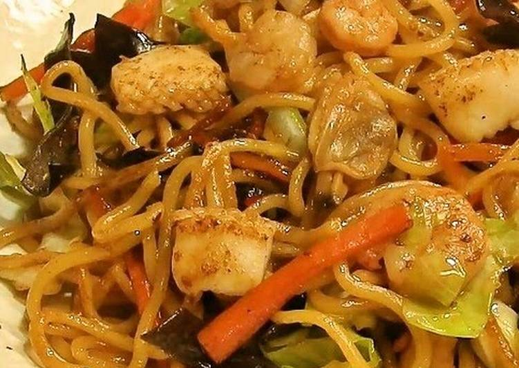 Recipe of Perfect Seafood Chow Mein