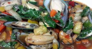 Kanyas Mussels with Sweet Basils