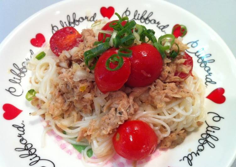 Chilled Tomato and Tuna Somen Noodles