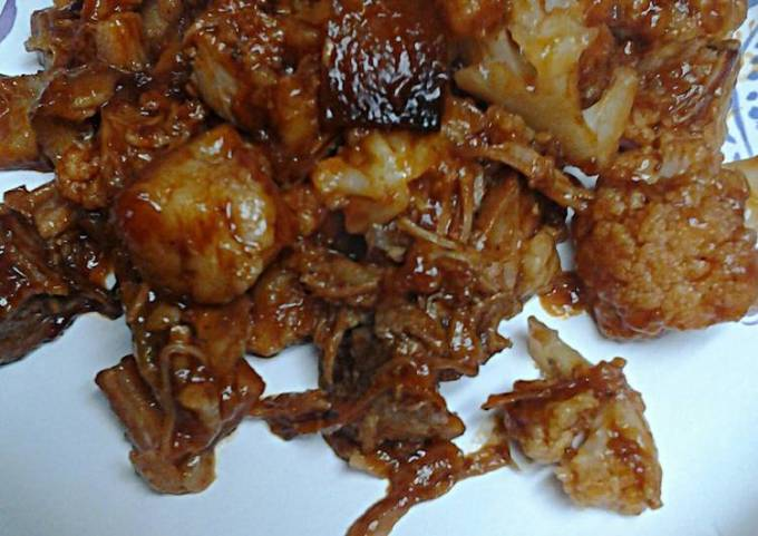 Barbecue Cauliflower with Leftovers