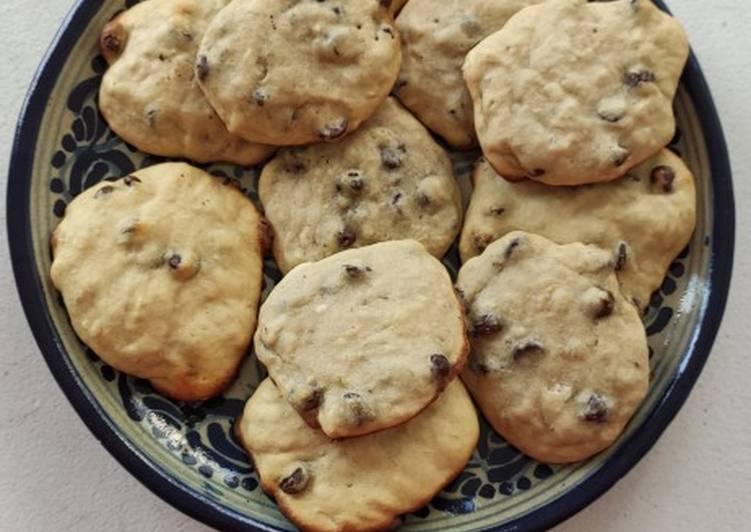 Cookies choco banane sans levure