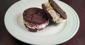 Brownie Cookie Ice Cream Sandwiches