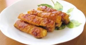 Nagaimo Yam Filled Sweet and Salty Teriyaki Pork Rolls