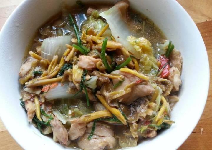 Thai chicken soup with swedish mushrooms