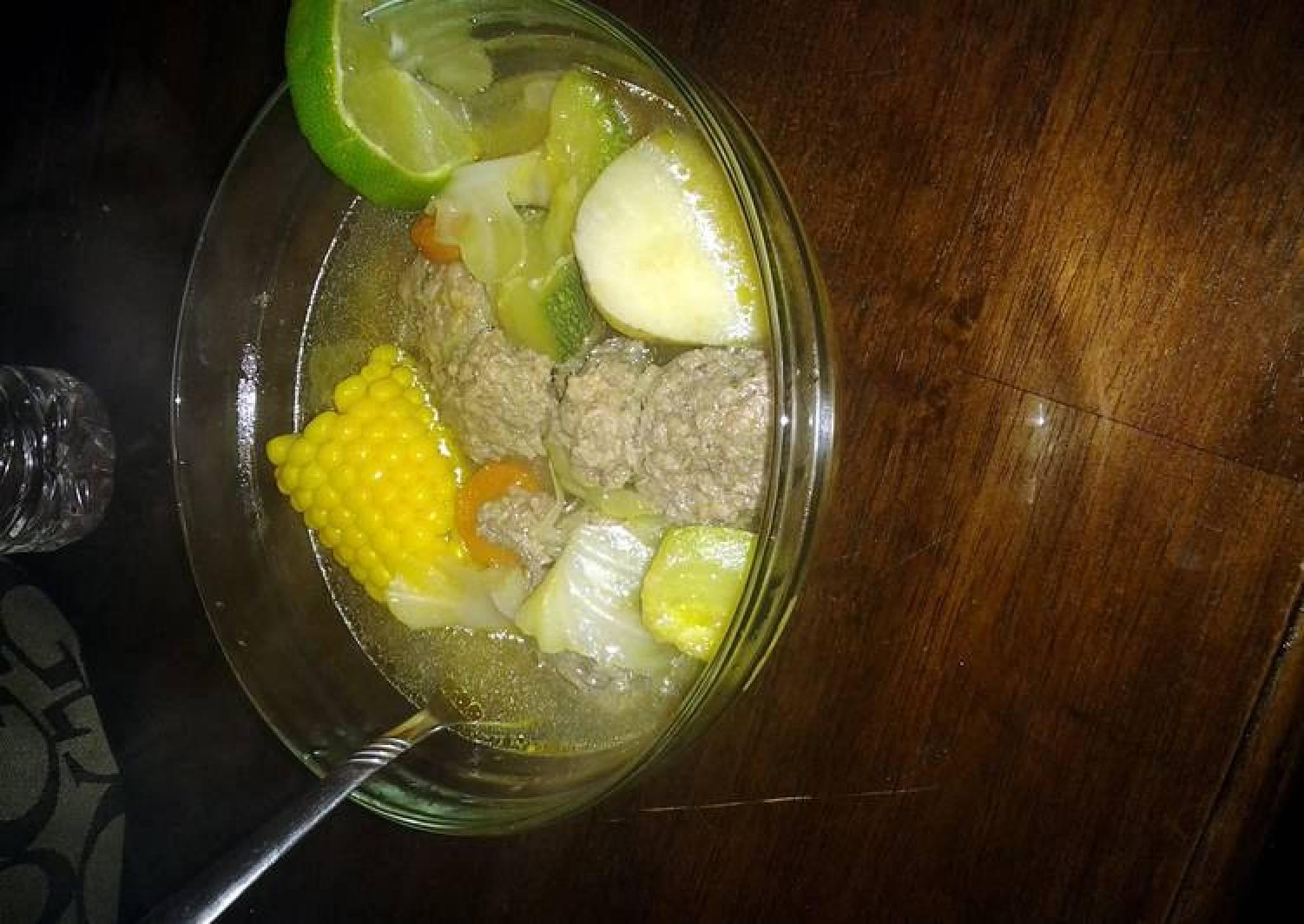 Caldo de Albondigas ( Meatball Soup )