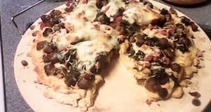 Italian Sausage Spinach Ricotta Cheese Pizza