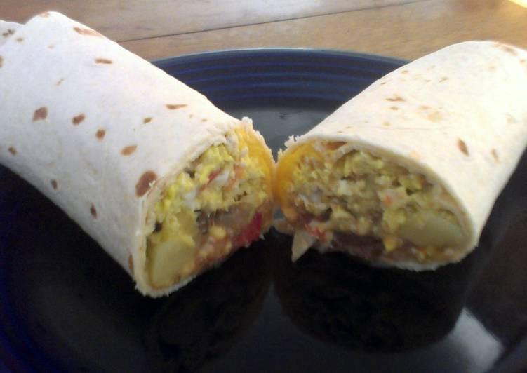 Easiest Way to Prepare Super Quick Homemade Chicken and Potato Breakfast Burritos