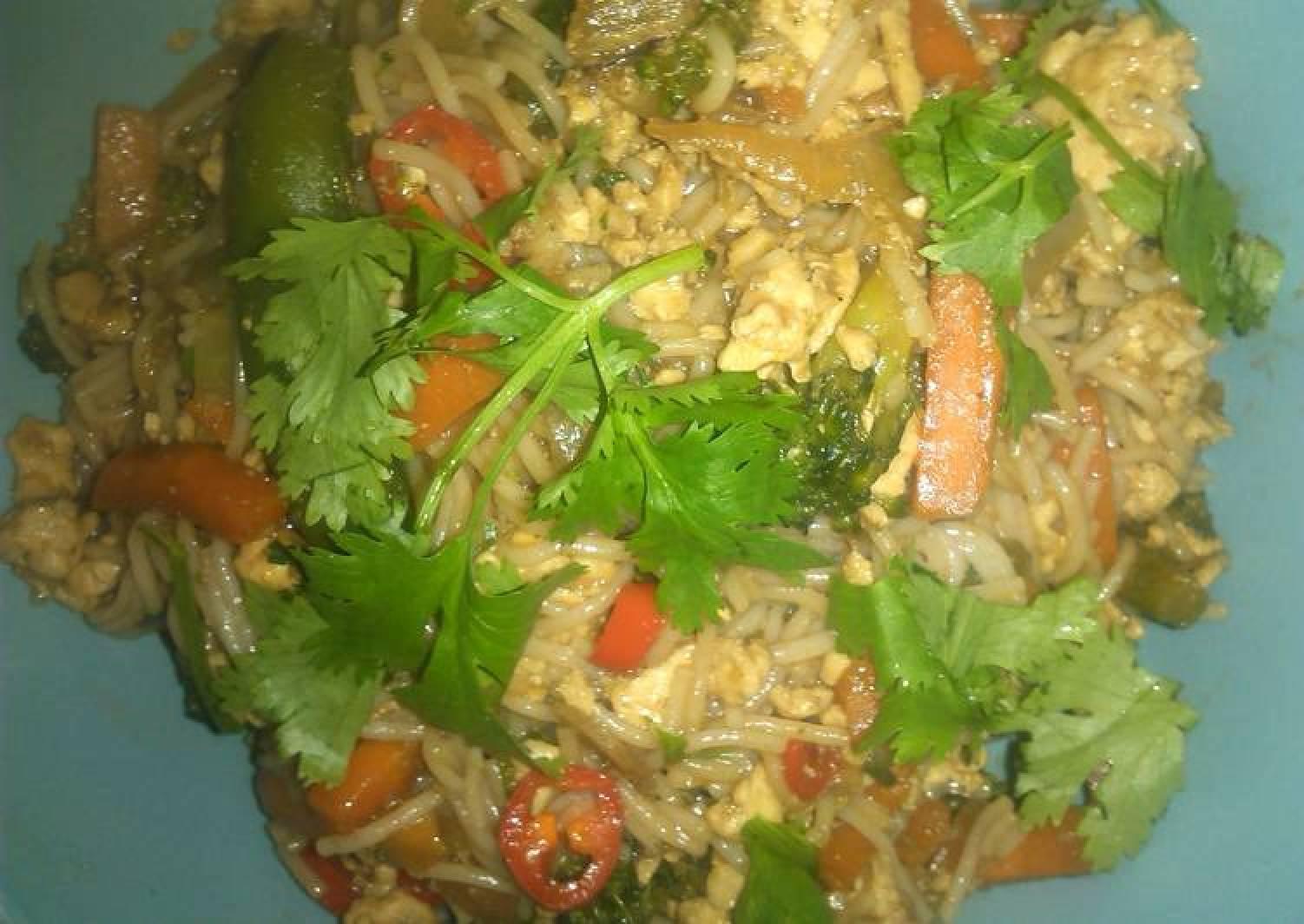 Turkey noodle stir-fry