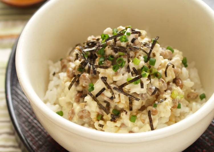 Sticky Natto  Wasabi-Mayo Chicken Soboro Rice Bowl